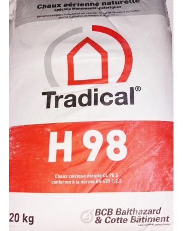 TRADICAL H 98  chaux aérienne en poudre