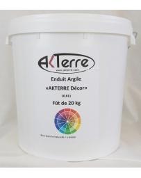 ENDUIT AKTERRE DECOR  Blanc à l'argile pot de 20 kg