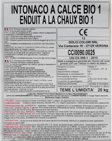 ENDUIT BIO CALCE 1